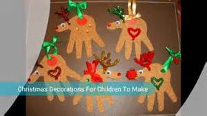 crafts christmas decorations for children youtube
