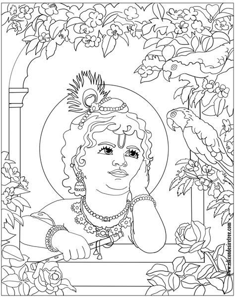 coloring krishna art  iskcon desire tree devotee network