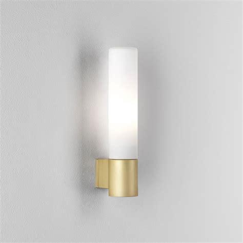astro lighting 8057 bari ip44 bathroom wall light in matt gold