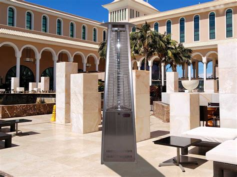 dayva tower of stainless steel propane heater
