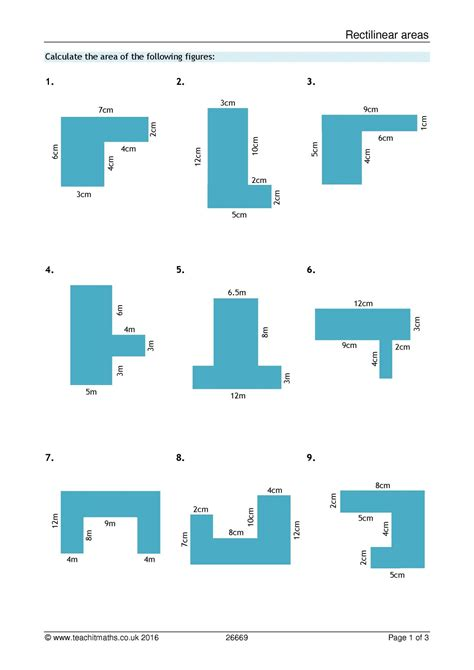 area and perimeter compound shapes all ks3 resources