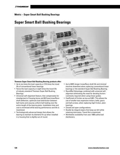 Linear Bearings Catalog Section - Thomson Industries, Inc