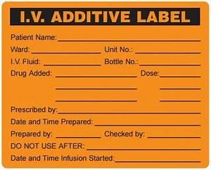label iv bag additive medication box200 b With iv medication labels