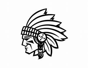 Dribbble - IndianWarriorHead.jpg by Matt Walker