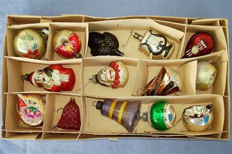 vintage tree glass ornament lot shiny bright germany poland vintage toys for sale