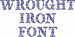 Sunshine embroidery for Wrought iron letters script