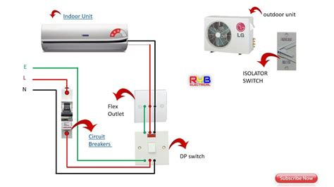 single phase split ac indoor outdoor wiring diagram ryb electrical house wiring of electrical