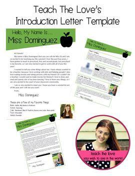 Teacher Introduction Letter Template | Teacher ...