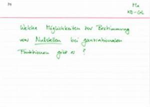 Nulstellen Berechnen : kurvendiskussion grundlagen ~ Themetempest.com Abrechnung