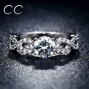 hot sale white gold plated wedding party rings for women With diamond wedding rings for sale