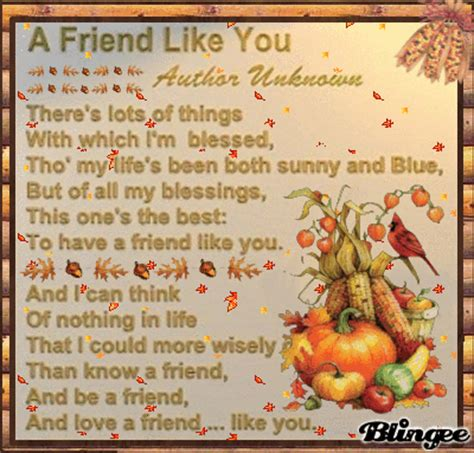 fall friendship poem picture  blingeecom