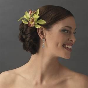 Orchid Floral Hair Clip Pin Elegant Bridal Hair