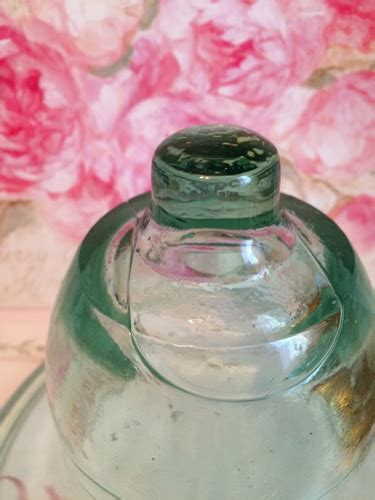 vintage french cloche green glass garden bell jar