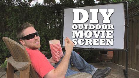 diy outdoor  screen youtube