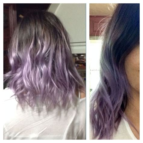 Lilac Dip Dye Hairmakeup Ideas Dyed Curly Hair