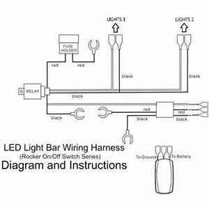 12v 40 Amp Off Road Atv  Jeep Led Light Bar Wiring Harness