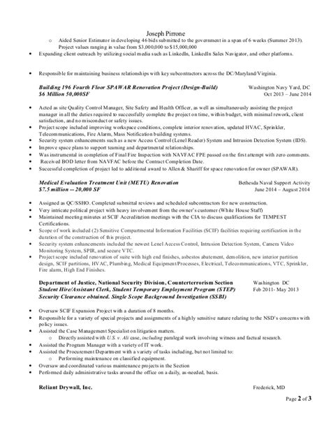 Resume Sle 2014 by Construction Estimator Resume Sle 28 Images Wallalaf Curriculum Development Template 8