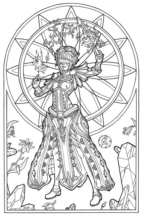 adult fantasy coloring pages blm