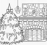 Coloring Christmas Pages Xmas Fireplace Pole North Print Merry Colouring Scene Gingerbread Nativity Dog Printable Scenes Interactive Fireplaces Fresh Catholic sketch template