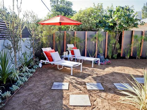 Backyard Sand by House Backyard With Contemporary Aluminum Fence Hgtv
