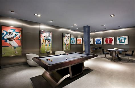 framed jerseys from sports themed bedrooms to sophisticated caves