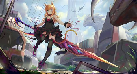 anime women sword  hd anime  wallpapers images