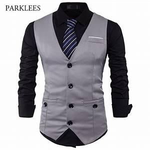 men suit vest classic v collar dress slim fit wedding With mens dress vests wedding