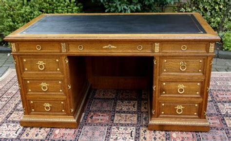 Antique Writing Desks by Antique Desk French Oak And Ormolu Mounted Pedestal Desk