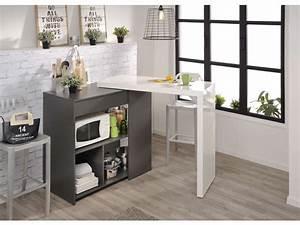 Desserte De Cuisine Conforama : desserte tic tac coloris gris fonc vente de table et ~ Dailycaller-alerts.com Idées de Décoration