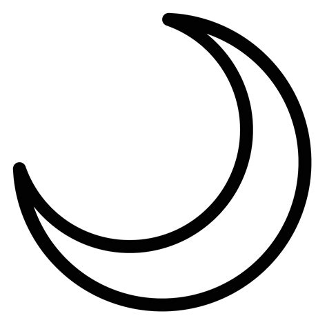 iphone half moon symbol crescent moon icon on iphone