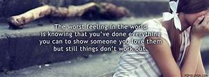Worst Feeling E... Fb Love Feeling Quotes