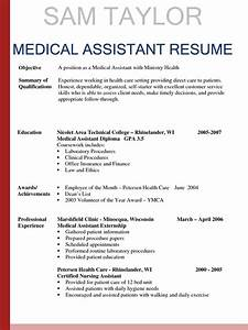 Sample resumes for medical assistant sample resumes for Experienced medical assistant resume