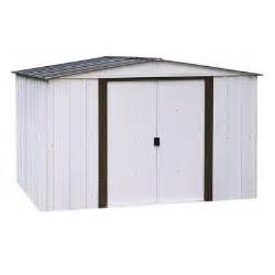 arrow newport 10 ft x 12 ft metal shed np101267 the home depot