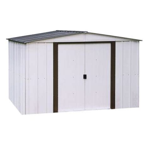 Metal Storage Shed Home Depot by Arrow Newport 10 Ft X 12 Ft Metal Shed Np101267 The