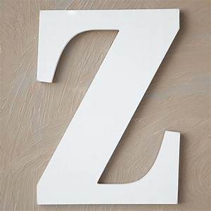 wood block letter painted white 8in z the lucky clover With white wooden block letters