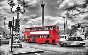 Black and white bus lights england london street blur road ...