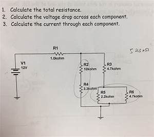 Calculate The Total Resistance. Calculate The Volt ...