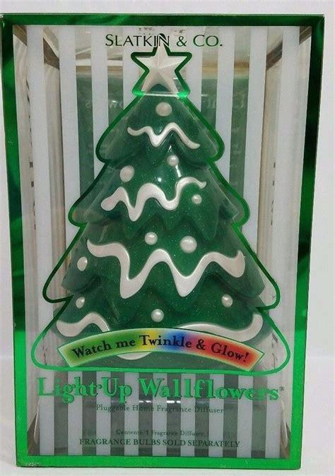 bath body works christmas tree wallflower slatkin plug candle twinkle wallflowers glitter