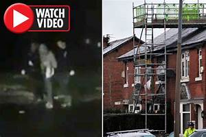 Salford house fire: Onlookers lash out at suspect arrested ...