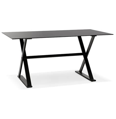 table bureau design table design en verre noir bureau moderne 160x80 cm