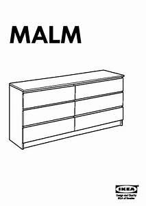 Meuble Malm Ikea : commode malm 6 tiroirs montage table de lit ~ Melissatoandfro.com Idées de Décoration