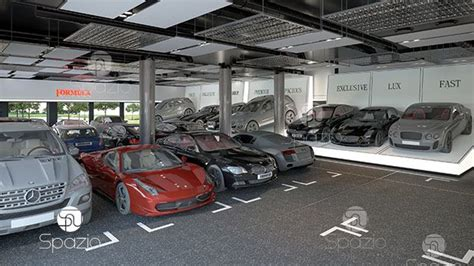 car showroom interior design  dubai spazio