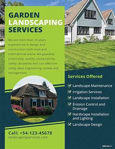 lawn care flyers templates free 18 landscaping flyer designs psd ai vector eps