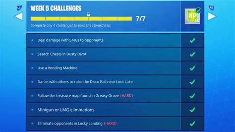 update fortnite week  challenges complete guide