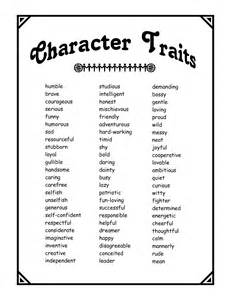Character Traits That Start with the Letter A