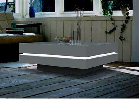 bureau laqué blanc design table basse carrée lyess mdf laqué leds blanc ou noir
