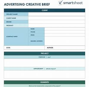 free creative brief templates smartsheet With photo brief template