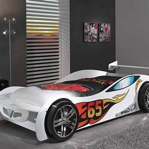 Lit Enfant Voiture : lit enfant voiture lemans blanc ~ Preciouscoupons.com Idées de Décoration