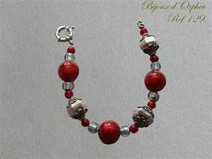 creation bracelet fantaisie murano rouge perle argent With création de bijoux fantaisie