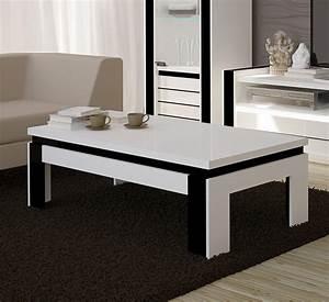Table Basse Pas Cher : table basse blanc laqu pas cher id es de d coration int rieure french decor ~ Teatrodelosmanantiales.com Idées de Décoration